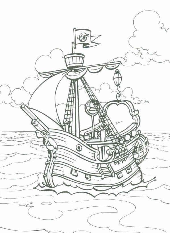kleurplaat en een plaatje piet piraat
